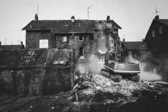 Abbruch eines Zechenhauses in der Auguststraße