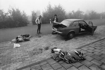 Reifenpanne auf der Rückfahrt von Berlin ins Ruhrgebiet, A2, Jacho, Kossi und Schnorrer