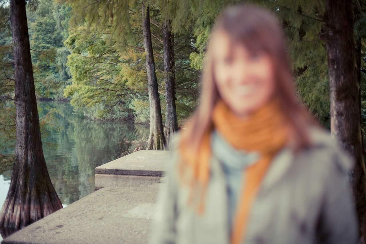 Andrea an der Sechs-Seen-Platte