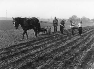 Bauer bei der Aussaat