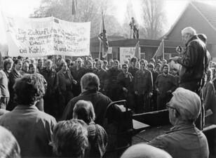 Demo bei Klöckner Ferromatik, Ortsteil Rauxel