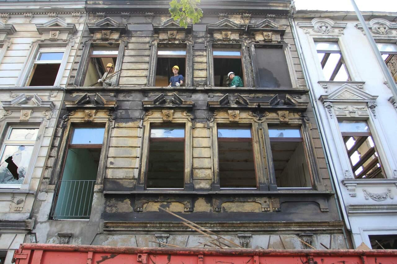 Entkernungsarbeiten in der Heinrichstrasse 10