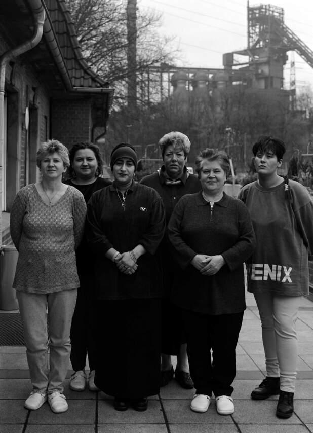 Frauen imarxl Schwelgentadion in Duisburg Moh, Teilnehmerinnen einer Qualifizierungsmassnahme