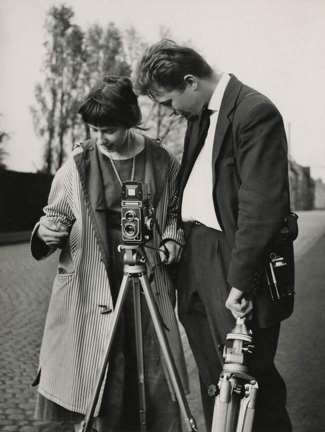 Romain Urhausen mit Studentin
