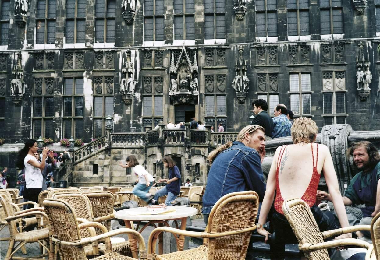 Marktplatz vor dem Aachener Rathaus