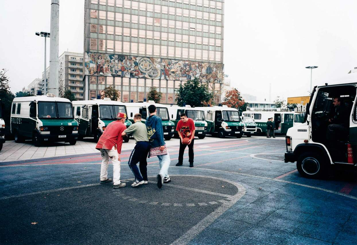 13.10.1995 Helmut Kohl auf dem Alexanderplatz, Berlin