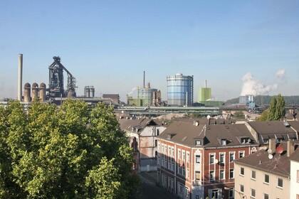 Historische Stahlstadt im Abriss