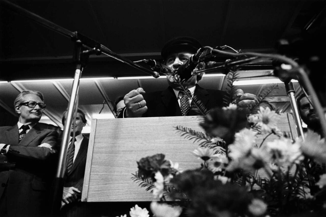 Wahlkampfrituale - Johannes Rau, SPD