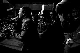 Wahlkampfrituale - Oskar Lafontaine, SPD
