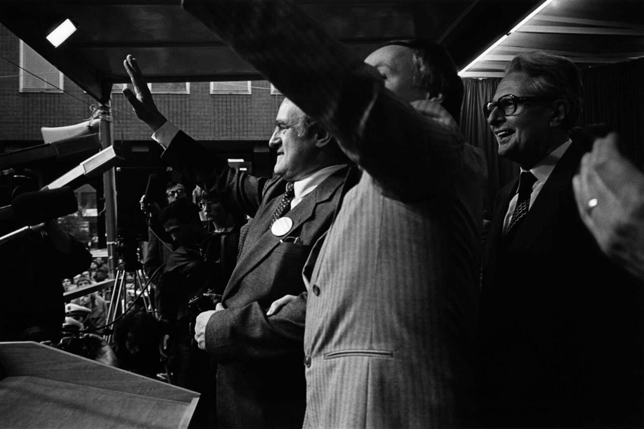 Wahlkampfrituale - Triumvirat Rau, Vogel, Lafontaine
