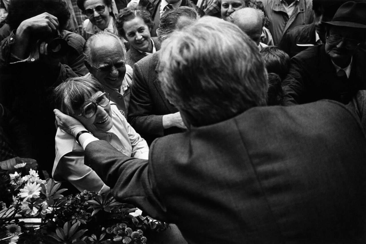 Wahlkampfrituale - Hans Jochen Vogel, SPD