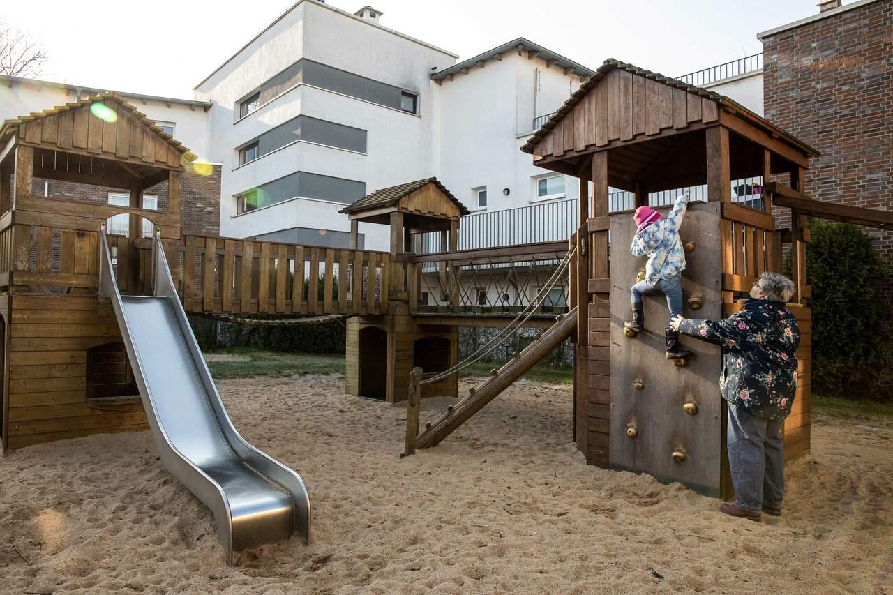 Notbetreuung mit einem Kind in einer Kindertagesstätte